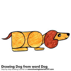 Dog from word Dog (drawingtutorials101.com) Tags: dog from word words with drawing animals sketching pencil sketch sketches draw drawings color colors coloring how speed pencils