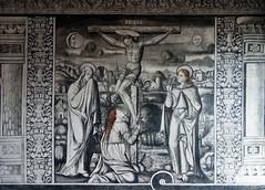 Crucifixion, Large cloister, mural, San Agustín de Acolman