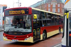 YX14 HDY, St Stephens, Hull, November 27th 2014 (Southsea_Matt) Tags: yx14hdy 384 route56 mcv evolution volvo b7rle eyms eastyorkshiremotorservices unitedkingdom yorkshire hull england ststephens november 2014 autumn canon 60d sigma 1850mm bus omnibus transport