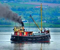 Scotland Greenock the coal burning steam cargo ship VIC 32 18 May 2018 by Anne MacKay (Anne MacKay images of interest & wonder) Tags: scotland greenock coal burning steam cargo ship vic 32 xs1 18 may 2018 picture by anne mackay clyde puffer