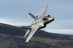 RNAF F-35A (dmeg180) Tags: jet military rnaf f35 f35a edwards 323tes airforce aircraft plane airplane lowlevel nikon d500 netherlands lightning stealth deathvalley desert