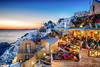 Oia, Santorini / Greece. (Stavros A.) Tags: oia santorini greece traditional white houses tavern restaurant night sunset landscape seascape caldera thira flowers people island greek islands famous place europe mediterranean aegean aegeanislands cyclades κυκλαδεσ σαντορινη οια ηλιοβασιλεμαστηνοια romantic idyllic view nikond750 explore