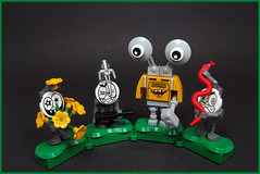 Bonnie MechChuckles and his Mad Minions (Karf Oohlu) Tags: lego moc figure crazyface face bossandminions minions gang mad