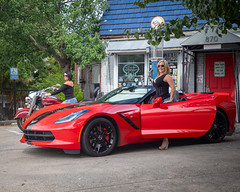IMG_6645-Edit.jpg (Skip Cox) Tags: indianmotorcycles corvette vette chevy stingray torch red c7 topless convertible black sexy hot cool fast z51 z06 automotive photographer blonde model heels babe girl women indian motorcycles diesel