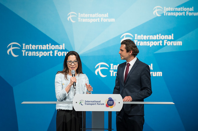Michelle Yeoh and Ali Aslan open the Plenary Session