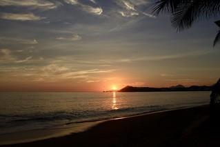 Sun set in the beach