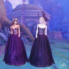 Two beautiful dresses (gwen.enchanted) Tags: maitreya vista lumae theplastik truth mishmashfusion violetility unrepentant realevilindustries fantasyfaire2018 ff2018 willowsofnienna titans solarium kiliklekvoda