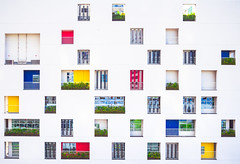 Tokyo Balconies (marco ferrarin) Tags: architecture balcony balconies color colorful façade facade yurikamome minatoward tokyo japan plazasinmei プラザ神明 港区 浜松町 東京 building nursery frontview window unique different city nopeople hamamatsucho