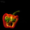 Pepper #1 (Perry J. Resnick) Tags: pjresnick perryjresnick pjresnickgmailcom pjresnickphotographygmailcom ©2018pjresnick ©pjresnick 2018 light fuji fujifilm highspeediso noir atmosphere atmospheric digital texture perspective fujinonxf35mmf14r 35mm xf35mm xf35mmf14 white xf fujinon resnick depthoffield indoor square squareformat pepper redpepper vegetable green orange yellow food foodography foodies stilllife