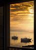 A través de mi Ventana (Juan Figueirido) Tags: ventana window fiestra mar sea freixo outes sabardes barcos boats sunset puestadesol amanecer sunrise galicia sailors marineros