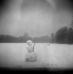 Last Snowman on earth - Leipzig Rosental 22018 by julefi - Vredeborch Felica Kodak T-Max ISO 400 (expired 8/2008) Kodak D-76, 19°C, 13 min 30 sec