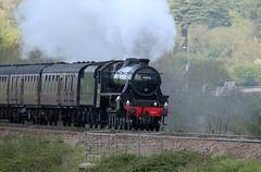 45212 LMS Stanier Class 5MT 4-6-0 'Black 5', Newton Meadows, Newton St Loe, Somerset (Kev Slade Too) Tags: 45212 lms stanier class5mt black5 460 steam westcoastrailwaycompany 1z25 newtonmeadows newtonstloe bath somerset