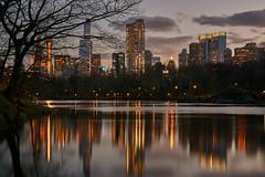 Sunset at Central Park (Guillermo S.L.) Tags: newyork bigapple centralpark sunset longexposure reflections skyscraper skyline