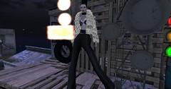Entrance no.250 (Curiosse) Tags: bra pants fur coat outfit animal print stamps black silver brassiere pantalon abrigo de pelo negro plateado plata noir conjunto luxeparis 2018