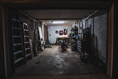Workspace (3rd-Rate Photography) Tags: garage motorcycle triumph bonneville tools room canon 1635mm 5dmarkiii jacksonville florida 3rdratephotography earlware 365