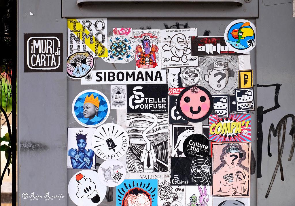 Sticker art by i muri di carta ironmould chiara de angelis