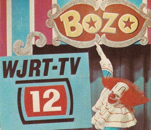 SE Flint MI BOZO THE CLOWN on WJRT-TV CHANNEL 12 Show was called Bozo's Big Top Bozo's TELEVISION AMUSEMENT autograph is printed, not written on the card BOZO was Earl Frank Cady1