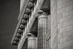 Columns (DJ Wolfman) Tags: columns architecture blackandwhite bw details sony rx10 art grandrapidsmi grandrapids michigan