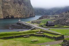 Heimaey on a foggy morning (Margrét A. - THANK YOU FOR 1.000.000 VIEWS :-)) Tags: vestmannaeyjar iceland islandia heimaey nordic scandinavia cliff
