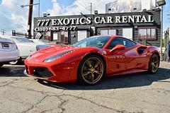 Red Ferrari 488 at 777 Exotics in Los Angeles Get the best price guaranteed on Ferrari Rental call 310 683 4777 (Exotic & Luxury Cars) Tags: ferrari losangeles 777exotics exotic cars la
