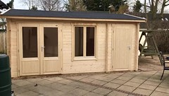 Wrexham Log Cabin supplied and Installed by Cabins Unlimited (Cabins Unlimited) Tags: lasita multiroom cabin with side store wrexham2