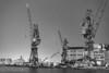 Port of Kobe (MMM765 Listener) Tags: port kobe japan sea nikon d850 2470 bw blackandwhite 白黒 モノクロ crane machine