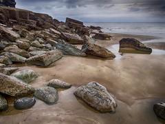 Dark Days at Telpin Beach, Amroth, Pembrokeshire. (hemlockwood1) Tags: amroth beach telpin sea sand atmospheric pembrokeshire wales dark sky moody light seascape water pools