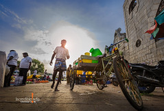 waterman (Albert Photo) Tags: india chennai labor laborer kamaraj flower market peddler hawker coachman tricycle pedicab vehicle people bike humanities culture waterman