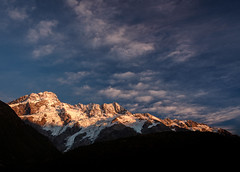 Polarized Mountains (ajecaldwell11) Tags: xe3 sunrise ankh purple water mountains southisland canterbury fujifilm light blue clouds newzealand mountcooknationalpark snow mackenzie rock polariser sky nationalpark mtcook caldwell dawn mountain