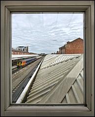 Let's look through the..........oblong window (david.hayes77) Tags: 2018 nottingham nottinghamshire class156 156497 emt 2a42 eastmidlandstrains playschool letslookthroughtheoblongwindow windowframe station