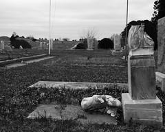 Broken Statue (Photographs By Wade) Tags: hominy oklahoma cemetery statue headstones broken osagecounty
