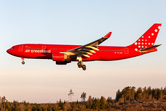 OY-GRN Airbus A330-223 Air Greenland (Andreas Eriksson - VstPic) Tags: early morninggreenland6199 from copenhagen arrived just after sunrise 0512 oygrn airbus a330223 air greenland for charter flight palma de mallorca