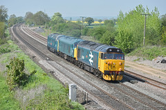50049 (Trev 'Big T' Hurley) Tags: 50049 45041 55019 class50 class55 class45 vac deltic peak brblue largelogoblue elford drag locomove englishelectric sulzer v16 llb log hoover hot hotweather sunny summer cloudless hazy rapeseed