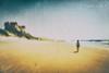It's not a rainy day (Fabrice Le Coq) Tags: mer jaune bleu sable ciel vagues océan silouhète maison dune sel plage chaleur