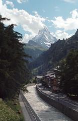 legend (victoriousviktor) Tags: switzerland zermatt matterhorn film kodak portra 160 canon a1 fd5014 mountain summer sky clouds