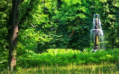 Surprise deep in the woods (gerard eder) Tags: world travel reise viajes europa europe germany deutschland alemania berlin pfaueninsel fountain brunnen fuente tree green park parque paisajes panorama forest woods outdoor landscape landschaft natur nature naturaleza