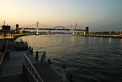Dubai Canal bridges (Irina.yaNeya) Tags: dubai uae emirates city urban dubaicanal canal bridge architecture sunset ocean sea water sky iphone illumination dubái eau cielo ciudad puente arquitectura puestadelsol mar agua دبي‎‎ الامارات مدينة قناة جسر فنمعماري غروب بحر ماء سماء дубаи оаэ эмираты канал мост архитектура закат море вода небо