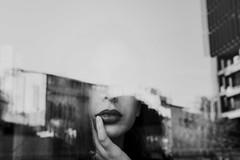 Chile | Santiago | Portrait (Medigore) Tags: sombras light portrait retrato face gente shadows fotografia canon santiago medigore sigma 1750 black white dark girl girls art fine conceptual beauty monocromático reflection lips