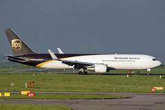 N335UP UPS 767-34AF/ER. East Midlands 08/05/2018 (Tu154Dave) Tags: n335up ups united parcel service cargo freighter boeing 767 767300 76734afer ema eastmids midlands airport aircraft