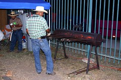 Cowboy (miosoleegrant2) Tags: cowboy hat jeans iron male men hunk muscle masculine torso guy chested outdoor people sport husky burly strapping brawny chunky hefty festivals heritage blacksmithing blacksmith ironwork forge handforged forged artistatwork work artist artistsinaction hand crafted festival folklife texasfolklife texas tx sanantonio