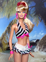 Then and Now on the Beach (back2s0ul) Tags: then now barbie anniversary 50th