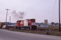 GB&W C424 #312, the Homer E. McGee, in Kewaunee WI   10/6/84 (LE_Irvin) Tags: c424 gbw kewauneewi