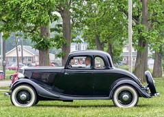 5 Window Ford Coupe (J Wells S) Tags: 5windowfordcoupe ford whitewalltires wirerims streetrod hotrod cincystreetrodscarshowandswapmeet butlercountyfairgrounds hamilton ohio oldschool