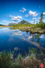 Find a quiet spot and enjoy! (Kasia Sokulska (KasiaBasic)) Tags: canada alberta rockies banff np vermilion lakes spring landscape lake water mountains nature exploring sky clouds