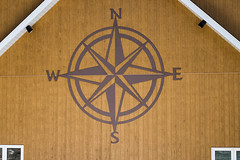 'No Direction Home' (Canadapt) Tags: cottage home compass symbol wall building abstract keefer canadapt