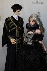 Court (Misty Valley Dolls) Tags: black gold silver bjd bjdabjd abjd bjdoll abjdoll doll embroidered zaoll twigling spiritdoll dollshe saint handmade