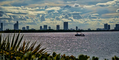 A boat ride on Biscayne Bay. (Aglez the city guy ☺) Tags: biscaynebay sea blue seascape clouds waterways walking walkingaround urbanexploration architecture afternoon outdoors cityscapes