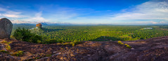 Sigiriya - Sri Lanka (dkphotographs) Tags: srilanka morning light sunrise sun sunlight autumn fog misty rural trees field beautiful clouds sky red orange yellow fall foggy hazy country landscape nature wildlife countryside sonyalpha6000 sigiriya panorama hdr