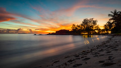 Burning Down The House (duncan_mclean) Tags: summer beach sunset holiday vacation anse kerlan sky red seychelles praslin tropical dusk ansekerlan