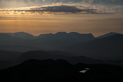 'From The Shadows' - Cnicht, Snowdonia (Kristofer Williams) Tags: snowdonia mountains mountain landscape shadows sunset evening sunrays light haze mist heat cloud wales cnicht nantlleridge